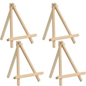 Wood Easel Display Easel Tripod Easel Craft Art Easels Photo Painting Holder Easel, 24 cm Tall 18 cm Width, 4 Pieces