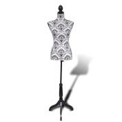 Anself Female Mannequin Dressmakers Ladies Bust Display Black White