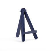 """NAVY BLUE colour BEECH WOOD 120MM 5"""" ARTIST TABLE TOP DISPLAY ART EASEL CRAFT WEDDING WOODEN"""