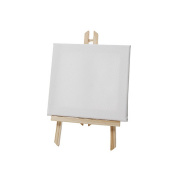 west5products Medium Easel with Canvas Wooden Artist Tripod. Retail Signage h23cm