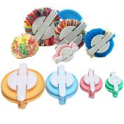 4 Sizes Pompom Pom-pom Maker for Fluff Ball Weaver Needle Craft DIY Wool Knitting Craft Tool Set Decoration