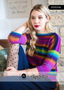 Designer Yarns Apollo Pattern 336 Jumper with 3/4 sleeves