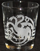 Game of Thrones GOT Dragon Targaryen Inspired Logo Shot Glass Laser Engraved