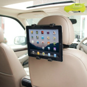 Universal Car Headrest Tablet Holder Frame Bracket Mount – For All iPad 1 2 3 4, iPad Mini, iPad Air & Any Other Tablets Up To 25cm – Fully Adjustable With 360 Degree Movement + IgnitionLine Air Freshener