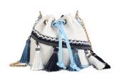 Canvas Shoulder Bag,CONISY Women Folk Style Mini Crossbody Bags with Tassel Cellphone Pouch