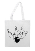 Bowling Ball And Pins Strike 6 Statement Tote Bag Shopper