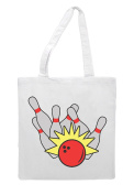Coloured Bowling Ball And Pins Strike Impact 7 Statement Tote Bag Shopper