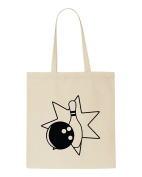 Bowling Ball And Pin Icon Bowling 4 Statement Tote Bag Shopper