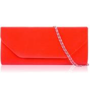Xardi London Orange Women Faux Suede Clutch Bag Bridal Envelope Ladies Evening Shoulder Handbags New