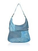LandLeder Vintage Club Patch Casual Bag Shoulder Bag Leather Blue