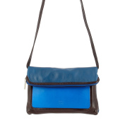 DUDU Clutch Bag Purse for Womens in Real Multi-colour Leather with zip and detachable shoulder strap Woods