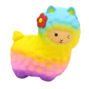 huichang Yellow Jumbo Sheep Squishy Cute Alpaca Galaxy Super Slow Rising Scented Fun Animal Toys