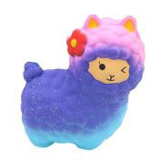 huichang Jumbo Sheep Squishy Alpaca Galaxy Super Slow Rising Scented Cute Animal Toys