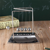 Z-shaped Zigzag Newtons Cradle Balance Balls,Physics Mechanics Science Toys Classic Home Office Desk Decoration Balance Balls
