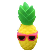 huichang Pineapple Squishy Slow Rising Decompression Toys Easter Gift Phone Strap
