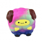 huichang Soft Sheep Cartoon Squishy Slow Rising Squeeze Stress Reliever Toy