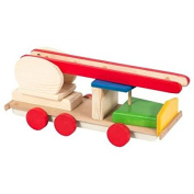 Wooden fire engine, fire truck, machine, gift for boys, toy utility vehicle