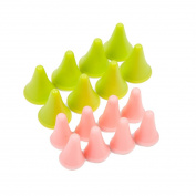 16Pcs Knitting Needles Point Protectors Stoppers For Knitting Craft 2 Sizes