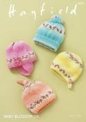 Sirdar 4839 Knitting Pattern Baby Hats Helmet and Bonnet in Hayfield Baby Blossom DK