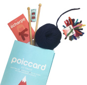 Beginner kit for knitting a scarf. Big wool of Peru - Navy - Explanatory note