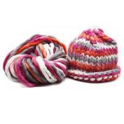 Celine lin Super Chunky Roving Big Warm Yarn for Hand Knitting Crochet,250g(8.8 Ounze),Multi-colored06