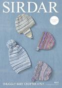 Sirdar Baby Hats Baby Crofter Knitting Pattern 4663 4 Ply