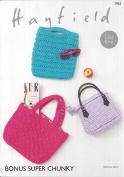 Sirdar/Hayfield Bonus Super Chunky Knitting Pattern - 7955 Bags