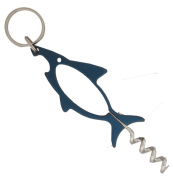 Shark-Shaped Bottle Opener With Corkscrew On A Key Chain (ToolUSA