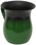 Ultimate Judaica Wash Cup Stainless Steel Green - 14cm H