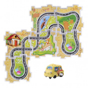 Lalang Flexible Track Set Clockwork Car and Track for Kids, Random Colour