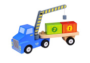 Container Loader Wooden Toy Set With 2 Containers and 1 Semi-Trailer Truck-*Premium Quality*-Sameday Dispatch-TKF003-S3
