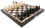 Hand Crafted Chess Set with Folding Board Wooden King 31cm