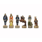 The Samurai hand painted themed chess pieces by Italfama