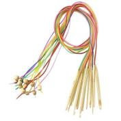 "Celine lin 12sizes 48inch""(120cm) Colourful Bamboo Flexible Afghan Tunisian Carpet Crochet Hooks Needles"
