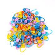 Kingko® 100pcs Knitting Crochet Craft Locking Stitch Markers Colourful Knitting Weave Stitch Hook