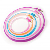 JZK® 5 x Different sizes cross stitch embroidery hoop ring circle tambour set, diameter 13cm to 28cm