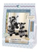 Go Handmade 80068 zebras. Paula and Peter 1 cotton crochet set. Colour
