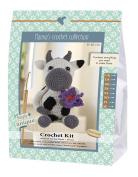 Go Handmade Cow, Dorte 1 crochet set, cotton, grey, 16 cm x 7 cm x 22 cm