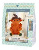 Go Handmade 80060 Dragon Jonas 1 Learn to Crochet 16 x 7 x 22 cm, Cotton, Orange, Brown, Green