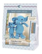 Go Handmade Sara 80066 Elephants and Simba 1 Learn to Crochet, Cotton, Blue/White, 16 x 7 x 22 cm