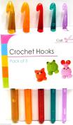Coloured Crochet Needles Crochets Needles Crochet Hooks Knitting Needles x 5 New