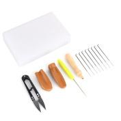 Yosoo Needle Felting Sewing Kit Tool Starter Kit Wool Felt Tools Mat Scissors Finger Protectors Felting Needle Tool Thread Repair Craft Set