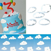 Saihui DIY Cake Shape 5 Pcs Cloud Turn Sugar Decoration Printing Creative Cookies Cutting Model