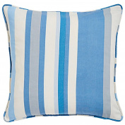 Hampton Stripe Blue Pair Of Cushion Covers