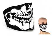 Reversible Half Face Mask Skull \ Black Neoprene Mask Anti Dust Bicycle Motorcycle Racing Ski Half Face Mask Paintball