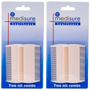 4Pc White Nit Combs, Removes Headlice, Lice & Eggs From Thick & Thin Hair