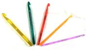 5 Sizes Multi coloured Plastic Crochet Hooks t Weaving Knitting Needles Set Craft Tools 5mm - 9mm 5mm 6mm 7mm 8mm 9mm
