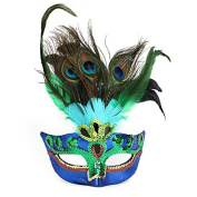 . Peacock Feathers Mask for Masquerade Costume Party Halloween Cosplay Venetian Mask