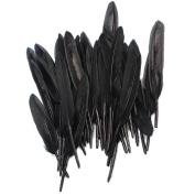50Pcs Black Goose Feathers Wedding Birthday Party Gorgeous Decoration Craft Scrapbooking DIY