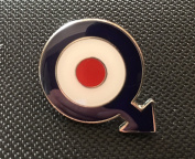 MODS TARGET ROUNDEL SCOOTER BOYS THE WHO ENAMEL PIN BADGE (PB11) BIGGER THAN OTHERS A GREAT GIFT